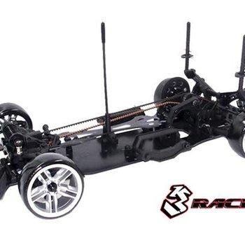 Sakura 3RACING KIT-D4AWDS/BK Sakura D4 AWD 1/10 Drift Car Sport Black Version