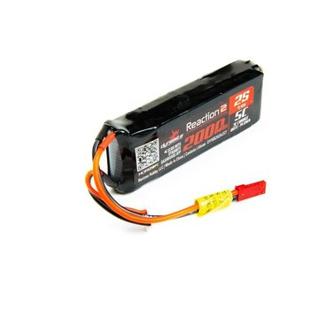 Dynamite Reaction2 7.4V 2000mAh 2S 5CLiPo RxPck:XXL-2