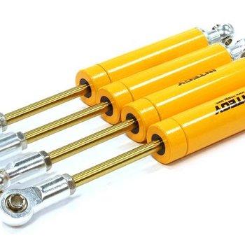 Integy Billet Machined Shock Set (4) for SCX-10 Dingo, Honcho & Jeep (L=105mm) C25708YELLOW