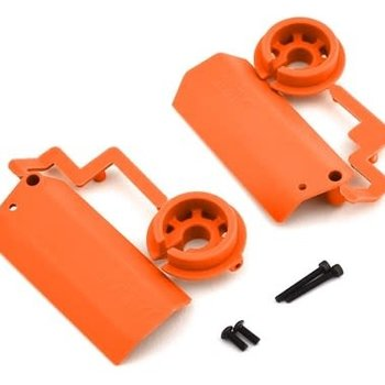 RPM Shock Shaft Guards: Traxxas X-Maxx, Orange