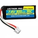Commonsence RC Lectron Pro 7.4V 300mAh 35C Lipo Battery with UMX Connector for the UMX Timber, Beast, Carbon Cub, Blade 130X & mCP X BL