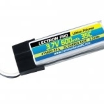 Lectron Pro 3.7V 600mAh 35C Lipo Battery with JST Connector for the Blade 120 SR and 180 QX