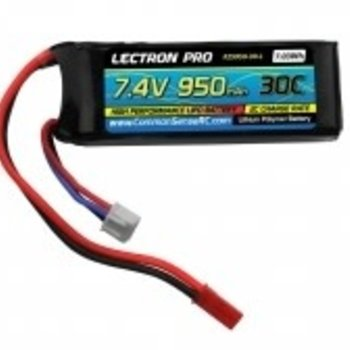 Lectron Pro 7.4 950mah 30c lipo battery with JST connector