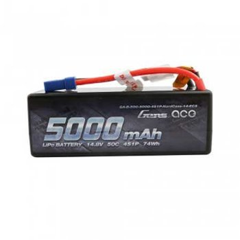 GENSACE Gens ace 5000mAh 14.8V 50C 4S1P HardCase Lipo Battery14# with EC5 Plug In stock
