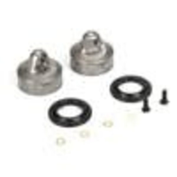 LOSI 16mm Bleeder Shock Caps, Aluminum (2): 8 & 8T 4.0