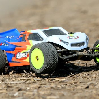LOSI Mini-T 2.0 RTR, Blue/White: 1/18 2wd