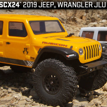 SCX24 2019 Jeep Wrangler JLU CRC 1/24 4WD-RTR YEL (Shipping included in online price to the lower 48 states)