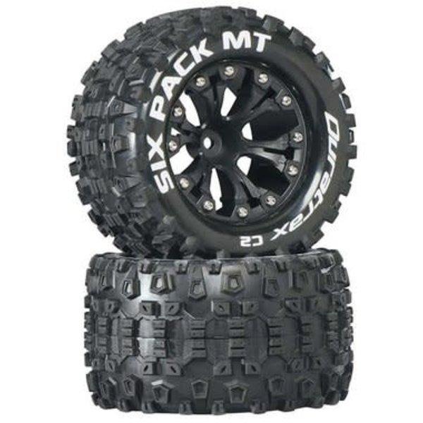 "DuraTrax Sixpack MT 2.8"" Truck 2WD Mntd 1/2"" Offset C2 Blk (2)"