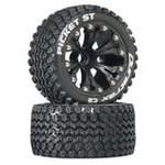 """DuraTrax Picket ST 2.8"""" Truck 2WD Mntd Fr C2 Black (2)"""