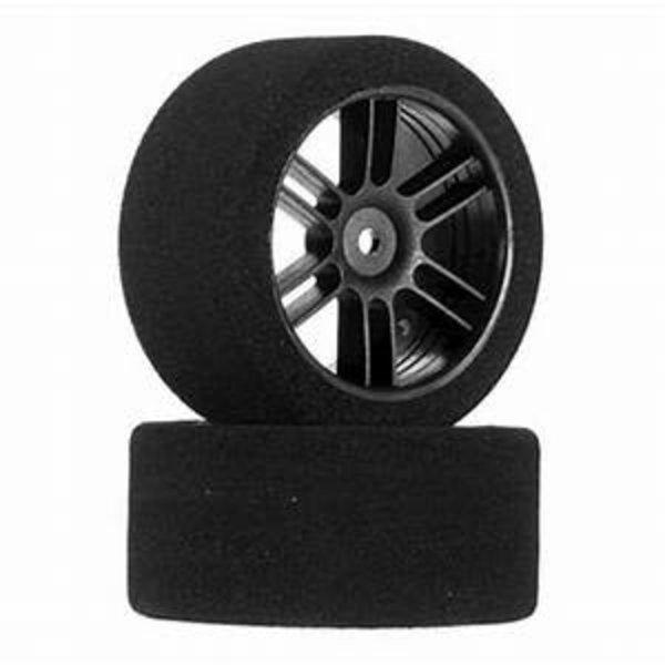 BXR Rear 30mm Nitro Touring Foam Tire, Blk Whl, 40 (2)