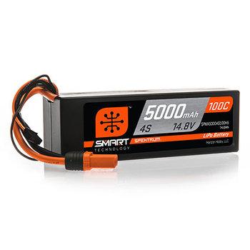 SPECKTRUM 5000mAh 4S 14.8V 100C Smart LiPo Hardcase; IC5