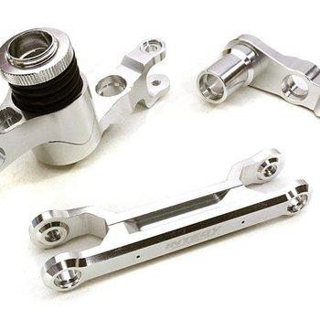 Integy C26944SILVER Steering Bell Crank Set X-Maxx 4x4