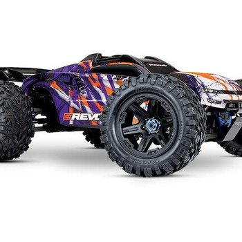 Traxxas E-Revo VXL Brushless: 1/10 Scale 4WD Brushless Electric Monster Truck with TQi 2.4GHz Traxxas Link Enabled Radio System and Traxxas Stability Management (TSM)