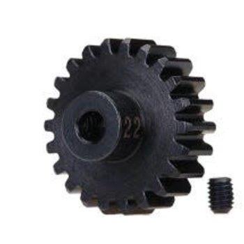 Traxxas Gear, 22-T pinion (32-p), heavy duty (machined, hardened steel)/ set screw