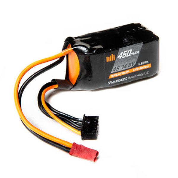 SPECKTRUM 450mAh 4S 14.8V 50C LiPo Battery; JST