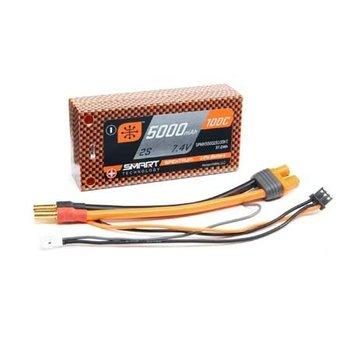 Spektrum 5000mAh 2S 7.4V 100C Smart LiPo Short 5mm Tubes