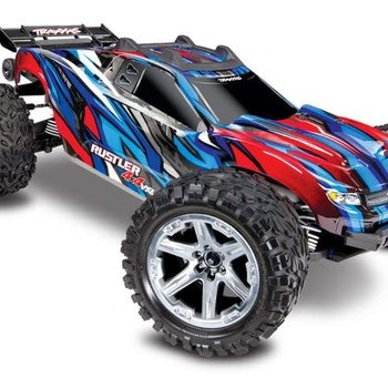 Traxxas Rustler 4X4 VXL: 1/10 Scale Stadium Truck with TQi Traxxas Link Enabled 2.4GHz Radio System & Traxxas Stability Management (TSM) (Online price includes ground shipping to the lower 48 states)