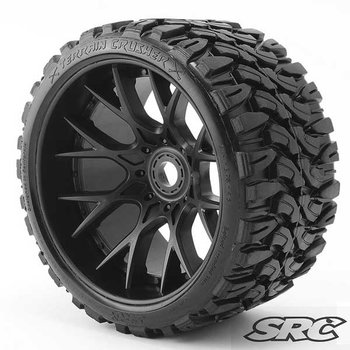 SWEEP Sweep C1002B 1/2 O/S Terrain Crusher on/off road Belted Tire Black Wheel
