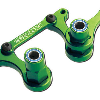 Traxxas Steering bellcranks, drag link (green-anodized 6061-T6 aluminum)/ 5x8mm ball bearings (4)/ hardware (assembled)