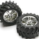 Traxxas 5173 TIRES/WHEELS ASSM MAX/REV