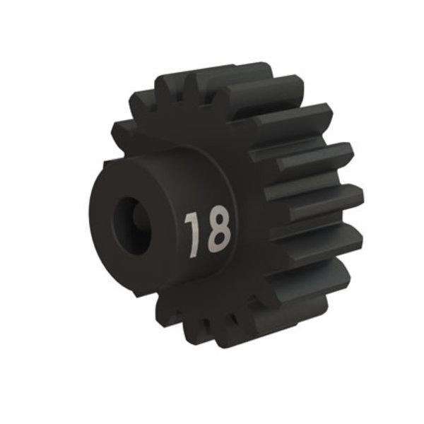 Traxxas Gear, 18-T pinion (32-p), heavy duty (machined, hardened steel)/ set screw
