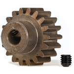 Traxxas Gear, 18-T pinion (1.0 metric pitch) (fits 5mm shaft)/ set screw (for use only with steel spur gears)
