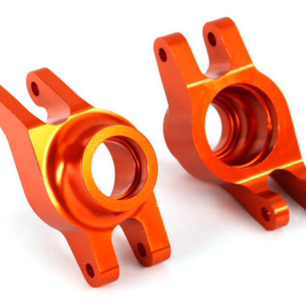 Traxxas Carriers, stub axle (orange-anodized 6061-T6 aluminum) (rear) (2)