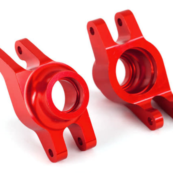 TRAXXX Carriers, stub axle (red-anodized 6061-T6 aluminum) (rear) (2)