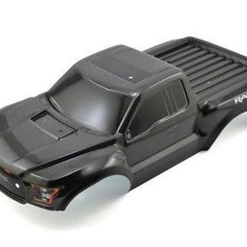 Traxxas Body, Ford Raptor, black (heavy duty)/ decals  (grd ship inc lower 48)