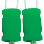 21 SILICONE EXHAUST COUPLER NEON GRN (2)