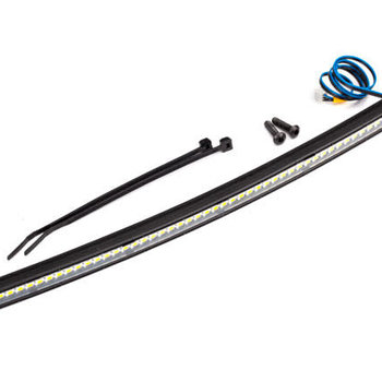 Traxxas LED light bar, roof (curved, high-voltage) (52 white LEDs (single row), 202mm wide)