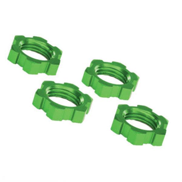 Traxxas 7758G Wheel nuts, splined, 17mm, serrated (green-anodized) (4)