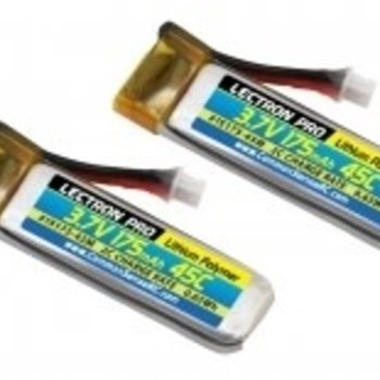 Commonsence RC Lectron Pro 3.7V 175mAh 45C Lipo Battery 2-Pack for Blade 70S