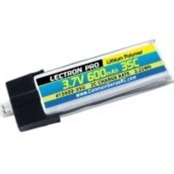 Lectron Pro 3.7V 600mAh 35C Lipo Battery with UMX Connector for the Blade Glimpse and Inductrix FPV +
