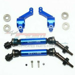 GPM GPM Racing Traxxas Rustler 4X4 Blue Rear CVD W/ Knuckle Arm Set SSLA1277RH22-B