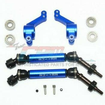 GPM GPM Racing Traxxas Rustler 4X4 Blue Rear CVD W/ Knuckle Arm Set SSLA1277RH22-B