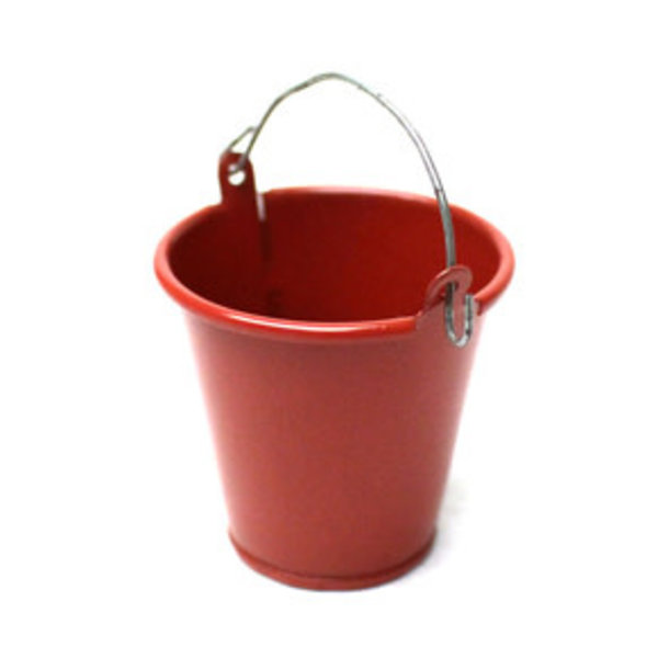 1/10 Scaler Large Tin Pail Red