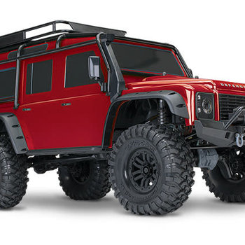Traxxas TRX-4 Scale and Trail Crawler with Land Rover Defender Body: 4WD Electric Trail Truck with TQi Traxxas Link Enabled 2.4GHz Radio System