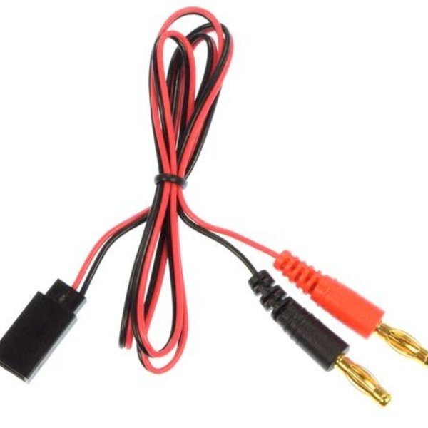 APEX APEX RC PRODUCTS FUTABA STYLE RECEIVER PLUG -> 4MM BANANA PLUG CHARGE LEAD
