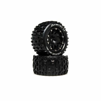 DuraTrax Lockup MT Belted 2.8 Mounted F/R 0 Offset Blk (2)