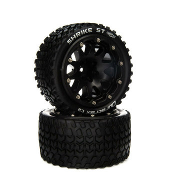 """DuraTrax DTXC5543 Shrike ST 14mm Hex Belted 2.8"""" Mounted Front/Rear Tires (2)"""