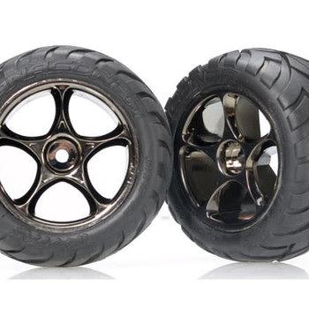 Traxxas Tracer Blk Chrome Whls w/ Anaconda Tires(2),R:BVXL