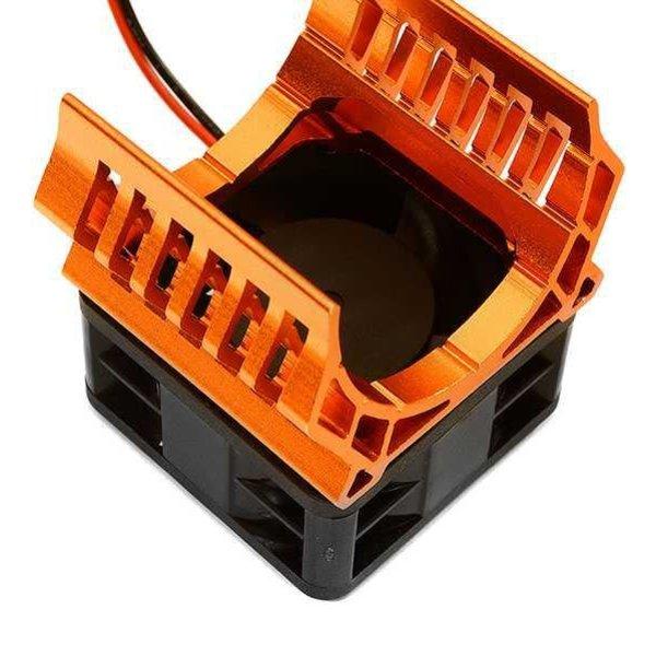 Integy 36mm Motor Heatsink+40x40mm Cooling Fan 16k rpm for 1/10 TR-MT10E & TRX-4 C28599ORANGE