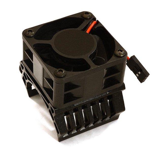 Integy 36mm Motor Heatsink+40x40mm Cooling Fan 16k rpm for 1/10 TR-MT10E & TRX-4 C28599BLACK
