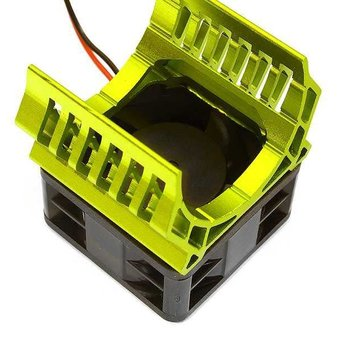 Integy 36mm Motor Heatsink+40x40mm Cooling Fan 16k rpm for 1/10 TR-MT10E & TRX-4 C28599GREEN