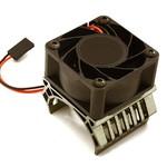 Integy 36mm Motor Heatsink+40x40mm Cooling Fan 17k rpm for Most 1/10 On-Road & Off-Road C28598GREY