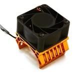Integy 36mm Motor Heatsink+40x40mm Cooling Fan 17k rpm for Most 1/10 On-Road & Off-Road C28598ORANGE