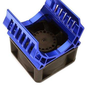 Integy 36mm Motor Heatsink+40x40mm Cooling Fan 17k rpm for 1/10 TR-MT10E & TRX-4 C28600BLUE