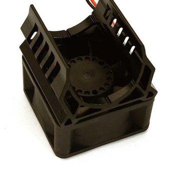 Integy Brushless Motor Heatsink+40x40mm Cooling Fan 17k rpm for 1/16 E-Revo & Slash VXL C28596BLACK