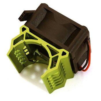 Integy Brushless Motor Heatsink+40x40mm Cooling Fan 17k rpm for 1/16 E-Revo & Slash VXL C28596GREEN